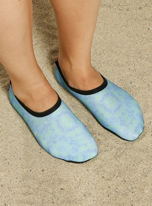 Green - Blue - Sandal - Shoes - Ayak Mayosu