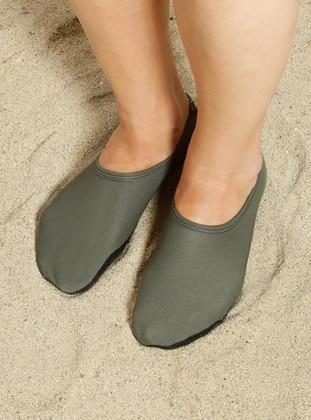 Green - Sandal - Shoes - Ayak Mayosu