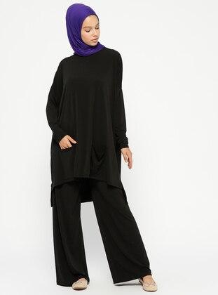 Tunik&Pantolon İkili Takım - Siyah - PİLİSE Ürün Resmi
