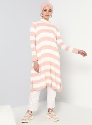 Powder - Stripe - Crew neck - Acrylic - Tunic