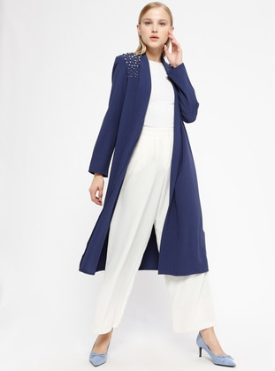 Blue - Indigo - Shawl Collar - Cardigan