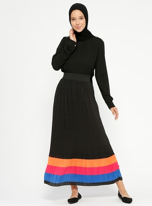 Black – Fully Lined – Skirt – Pilise