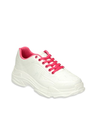 White - Fuchsia - Sport - Sports Shoes