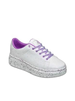 Pasomia Renk Değiştiren Spor Ayakkabı - Beyaz Mor