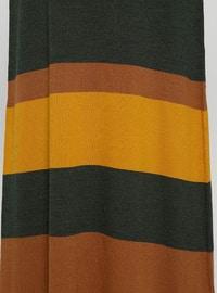 Brown - Khaki - Unlined - Crew neck - Acrylic - Plus Size Dress
