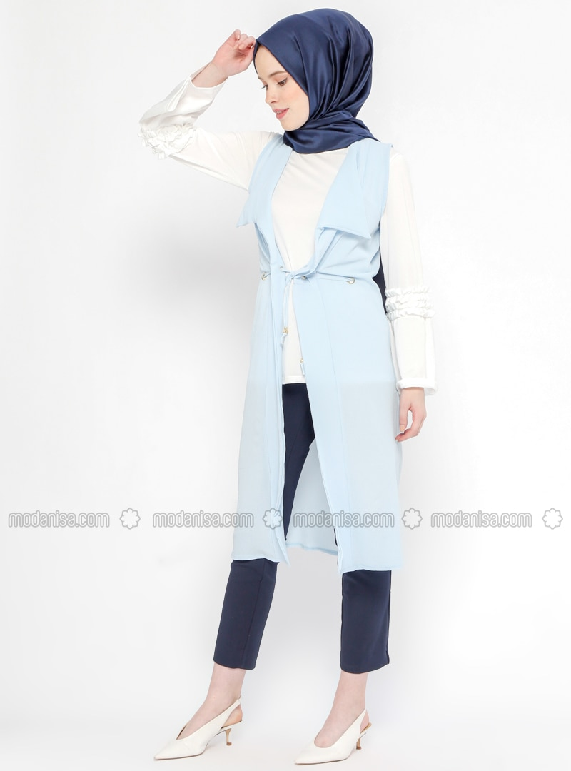 Blue   Unlined   Suit   Dadali by Modanisa