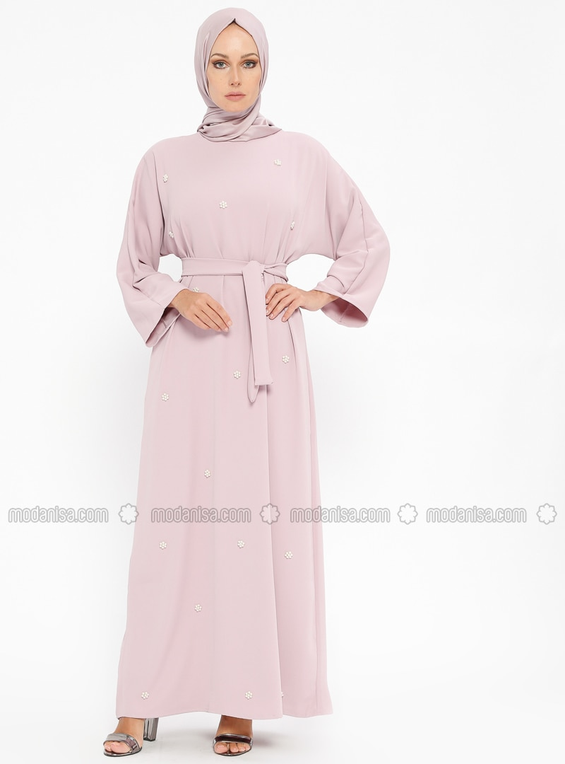 Lilac - Crew neck - Unlined - Dresses