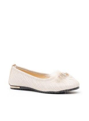 Ayakkabı Modası Babet - Krem
