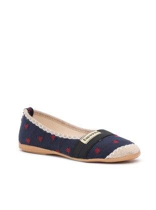 Ayakkabı Modası Babet - Lacivert Siyah