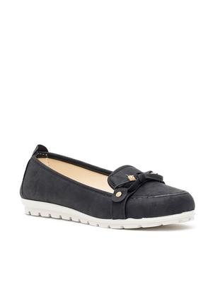 Ayakkabı Modası Babet - Siyah