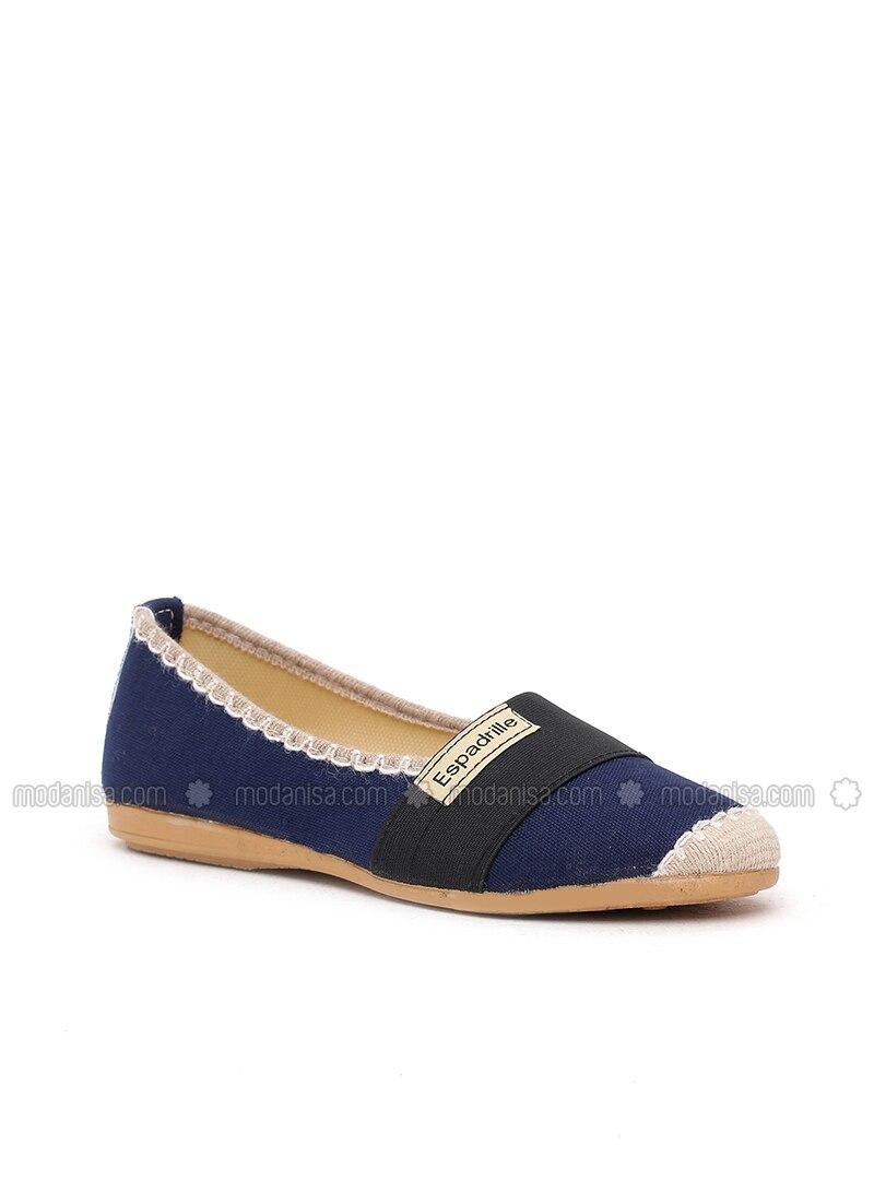 474d16512f7b Navy Blue - Flat - Flat Shoes. Fotoğrafı büyütmek için tıklayın