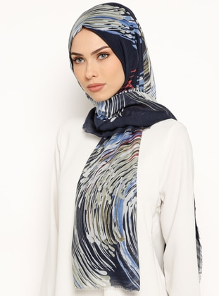 Saxe - Khaki - Printed - Cotton - Shawl