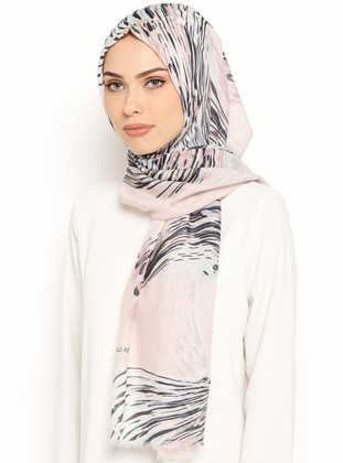 Pink - Mint - Printed - Cotton - Shawl