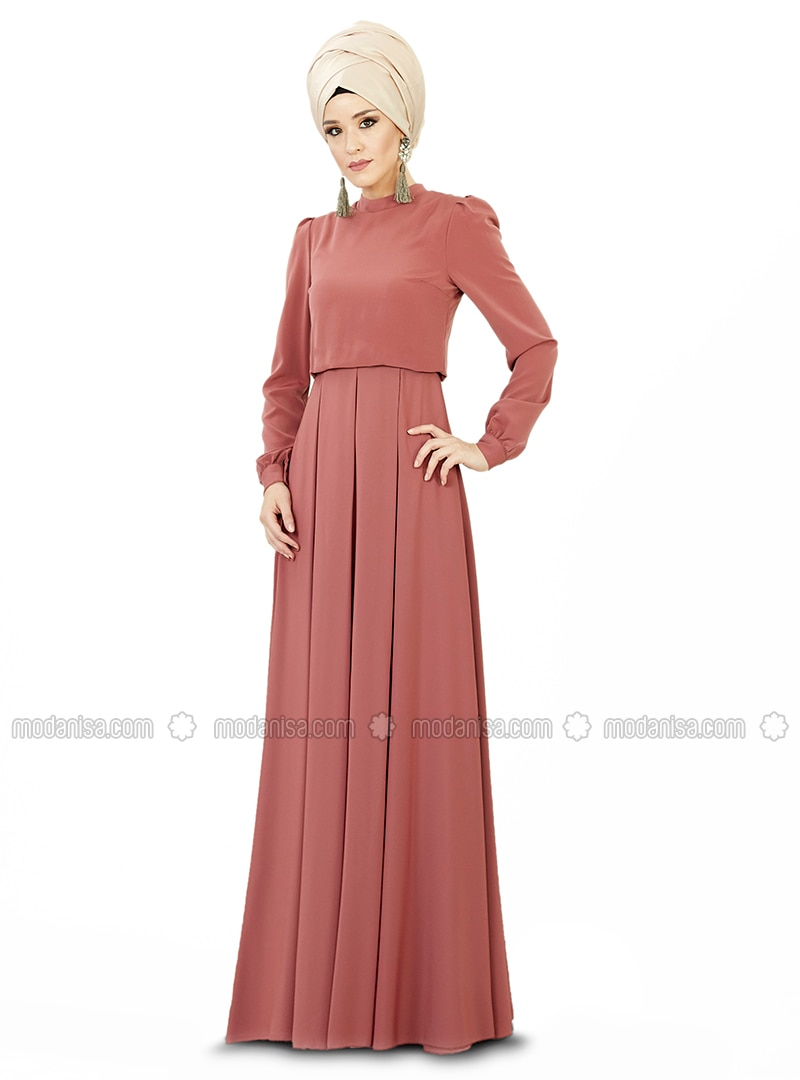 Terra Cotta - Point Collar - Fully Lined - Dresses