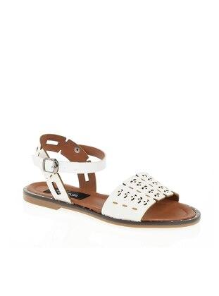 Sandalet - Beyaz - DERİGO Ürün Resmi
