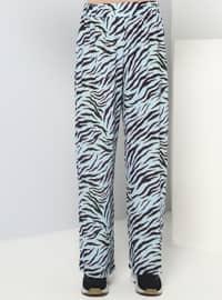 Blue - Black - Multi - Unlined - Cotton - Suit