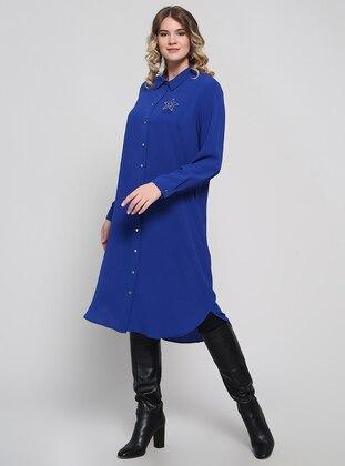 Saxe - Point Collar - Plus Size Tunic