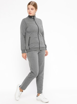 Anthracite – Polo Neck – Tracksuit Set – Simart