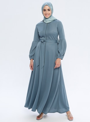 Green Almond - Unlined - Crew neck - Abaya