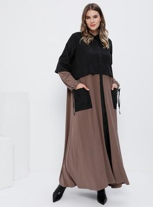 Minc - Unlined - Point Collar - Plus Size Trench coat - Alia