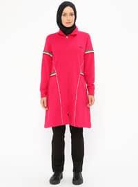 Pink - Polo neck - Tracksuit Set