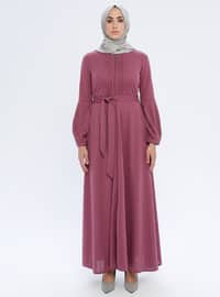 Dusty Rose - Unlined - Crew neck - Abaya
