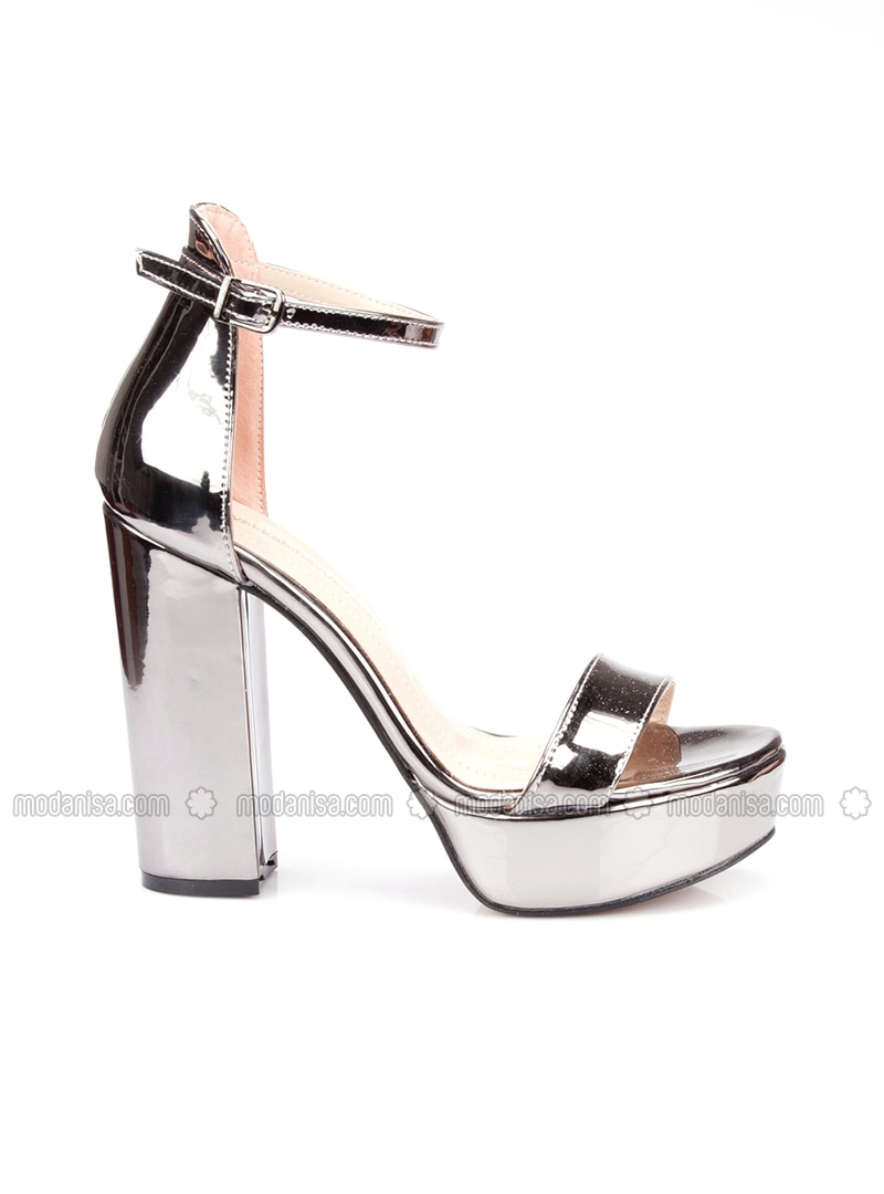 cute best selling uk cheap sale Silver - High Heel - Silver - High Heel - Casual Shoes