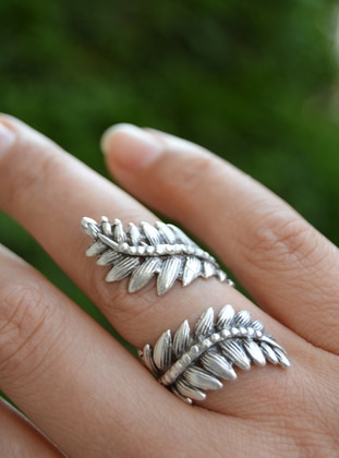 Silver tone - Ring - Stoneage