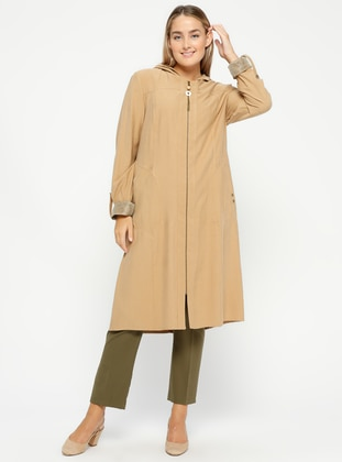 Camel - Unlined - Plus Size Coat