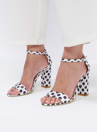 Sitill Topuklu Ayakkabı - Beyaz