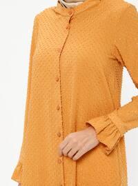 Tan - Button Collar - Tunic