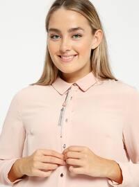Salmon - Point Collar - Plus Size Tunic
