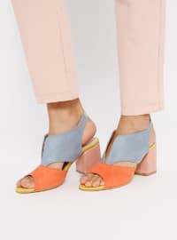Blue - Orange - High Heel - Heels