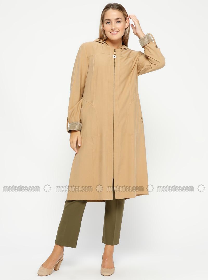 Camel - Unlined - Plus Size Coat