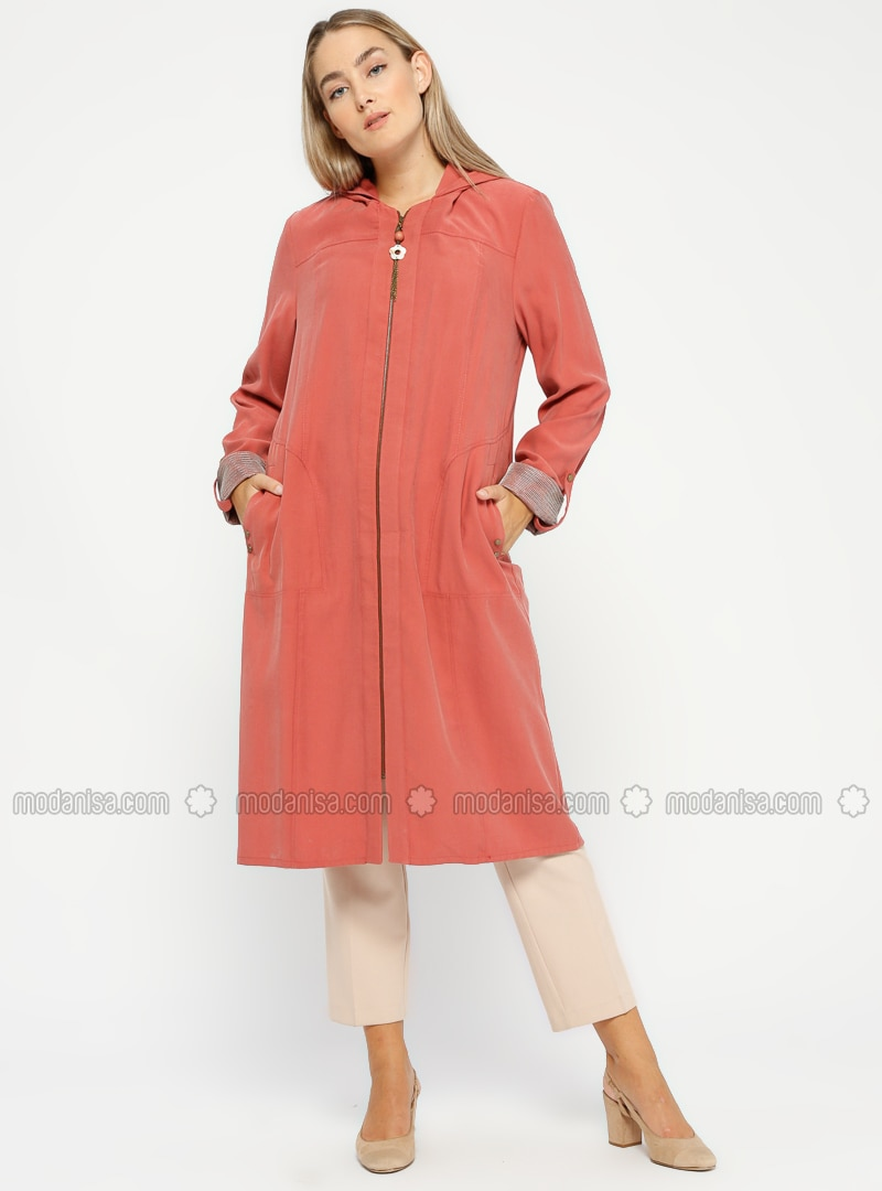 Terra Cotta - Unlined - Plus Size Coat