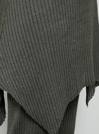 Khaki - Crew neck - Cotton - Tunic