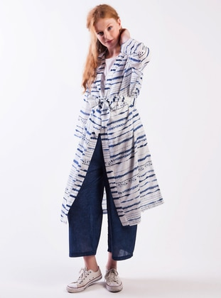 Kimono- Indigo - Akel Ürün Resmi