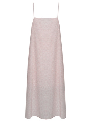Pink - Fully Lined - Viscose - Dresses