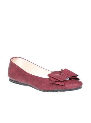Ayakkabı Modası Babet - Bordo
