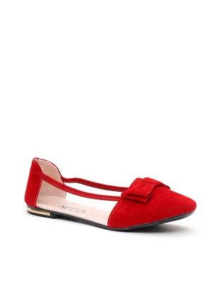 Ayakkabı Modası Babet - Kırmızı
