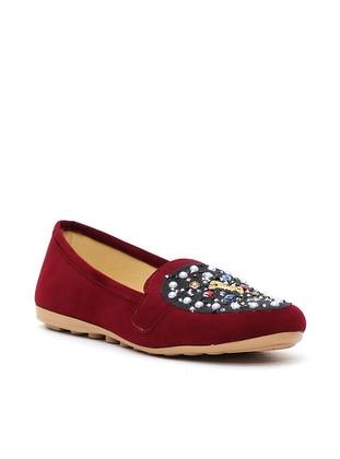 Ayakkabı Modası Babet - Koyu Bordo