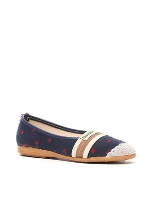 Ayakkabı Modası Babet - Lacivert Taba