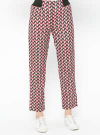 Red - Multi - Pants