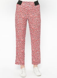 Red - Maroon - Multi - Pants