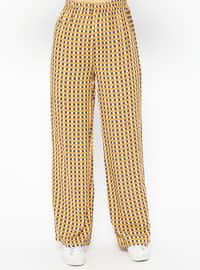 Mustard - Multi - Viscose - Pants