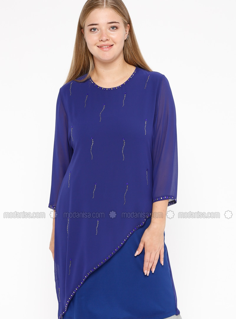 Saxe - Crew neck - Plus Size Tunic