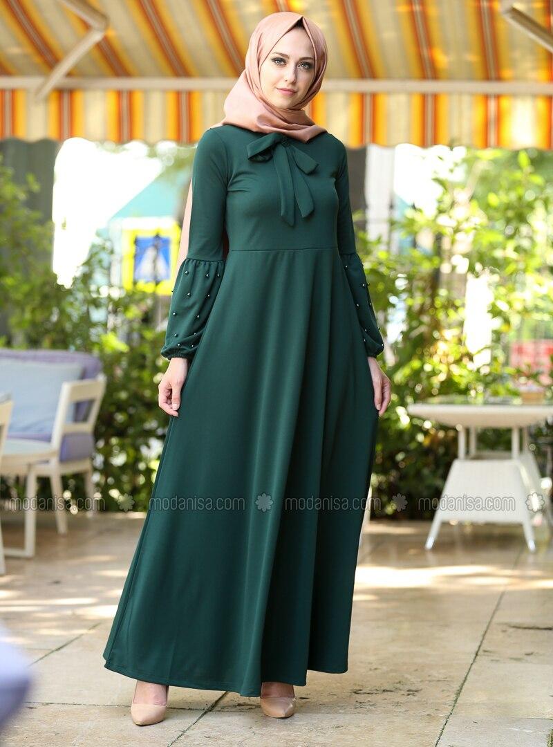 e6d42b20241 Vert Emeraude - Robe
