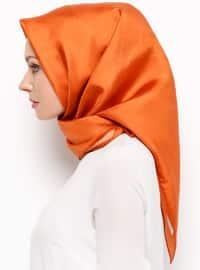 Tan - Plain - %100 Silk - Scarf