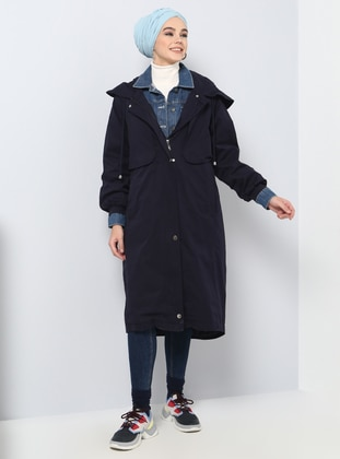 Navy Blue - Fully Lined - Cotton - Puffer Jackets - Benin