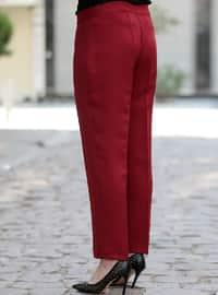 Maroon - Plus Size Pants